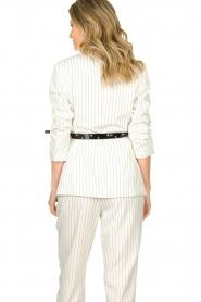 Silvian Heach |  Pinstripe blazer Mioto | white  | Picture 6