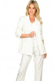 Silvian Heach |  Pinstripe blazer Mioto | white  | Picture 4