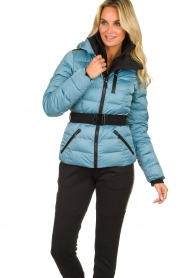 Goldbergh |  Down ski jacket | blue   | Picture 2