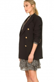 Silvian Heach |  Oversized blazer with marine buttons Xemir | black  | Picture 5