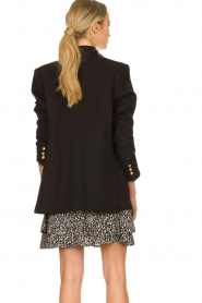 Silvian Heach |  Oversized blazer with marine buttons Xemir | black  | Picture 6