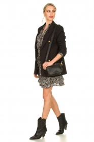 Silvian Heach |  Oversized blazer with marine buttons Xemir | black  | Picture 3