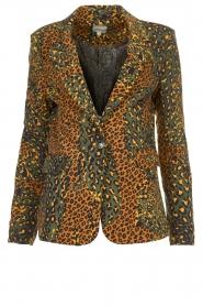 Silvian Heach |  Leopard printed blazer Zuari | green  | Picture 1