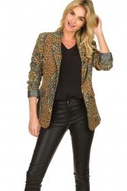 Silvian Heach |  Leopard printed blazer Zuari | green  | Picture 4