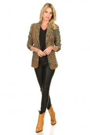 Silvian Heach |  Leopard printed blazer Zuari | green  | Picture 3