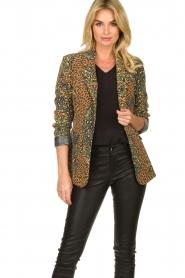 Silvian Heach |  Leopard printed blazer Zuari | green  | Picture 2