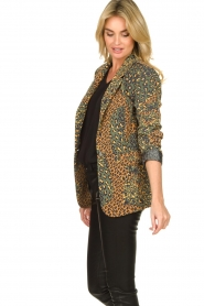 Silvian Heach |  Leopard printed blazer Zuari | green  | Picture 5
