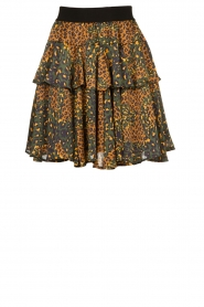 Silvian Heach |  Animal printed skirt Zuar | green  | Picture 1