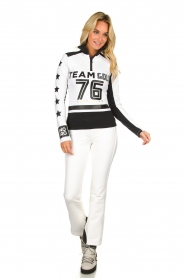 Goldbergh |  Ski pully with prints Bobcat | white  | Picture 3