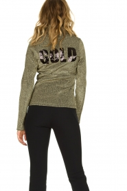 Goldbergh |  Ski pully with glitter Sparkle | gold  | Picture 6