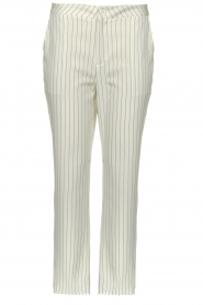Silvian Heach |  Striped pantalon Donomanga | white  | Picture 1