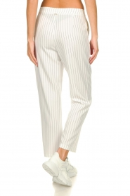 Silvian Heach |  Striped pantalon Donomanga | white  | Picture 5
