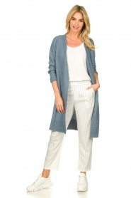 Silvian Heach |  Striped pantalon Donomanga | white  | Picture 3