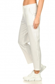 Silvian Heach |  Striped pantalon Donomanga | white  | Picture 4