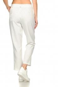 Silvian Heach |  Pinstripe trousers Donomanga | white  | Picture 6