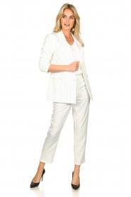 Silvian Heach |  Pinstripe trousers Donomanga | white  | Picture 3