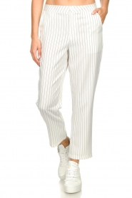 Silvian Heach |  Pinstripe trousers Donomanga | white  | Picture 4