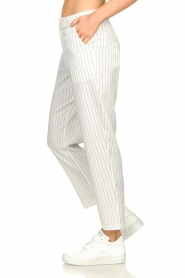 Silvian Heach |  Pinstripe trousers Donomanga | white  | Picture 5