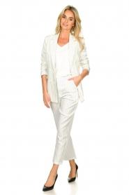 Silvian Heach |  Pinstripe trousers Donomanga | white  | Picture 2