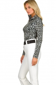 Goldbergh |  Ski pully with leopard print Lilja | animal print  | Picture 4