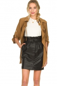 Silvian Heach |  Wrap jacket Borkpa | brown  | Picture 2