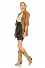 Silvian Heach |  Wrap jacket Borkpa | brown  | Picture 3