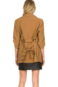 Silvian Heach |  Wrap jacket Borkpa | brown  | Picture 6