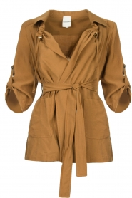Silvian Heach |  Wrap jacket Borkpa | brown  | Picture 1