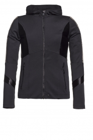 Goldbergh |  Ski jacket with gold details Salli | black  | Picture 1