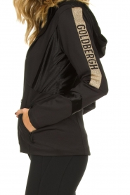 Goldbergh |  Ski jacket with gold details Salli | black  | Picture 6