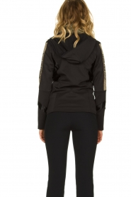 Goldbergh |  Ski jacket with gold details Salli | black  | Picture 5
