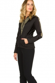 Goldbergh |  Ski jacket with gold details Salli | black  | Picture 4