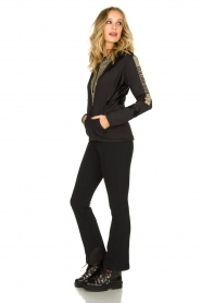 Goldbergh |  Ski jacket with gold details Salli | black  | Picture 3