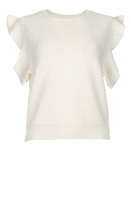 Silvian Heach |  Top with ruffles Kenema | white  | Picture 1