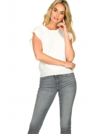 Silvian Heach    Top with ruffles Kenema   white    Picture 4