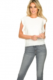 Silvian Heach    Top with ruffles Kenema   white    Picture 2