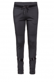 Goldbergh | Pants with gold details Salla | black  | Picture 1