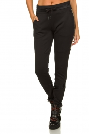 Goldbergh | Pants with gold details Salla | black  | Picture 2