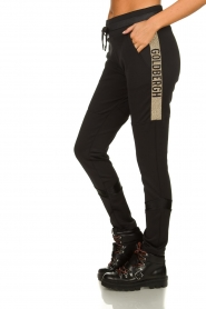 Goldbergh | Pants with gold details Salla | black  | Picture 4