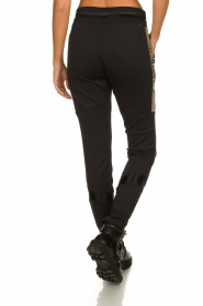 Goldbergh | Pants with gold details Salla | black  | Picture 5