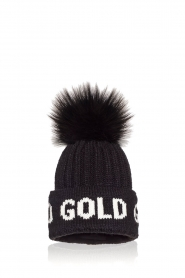 Goldbergh |  Beanie with pompon Hodd | black  | Picture 1