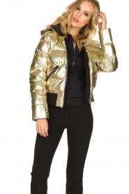 Goldbergh |  Metallic down jacket Aura | gold  | Picture 2