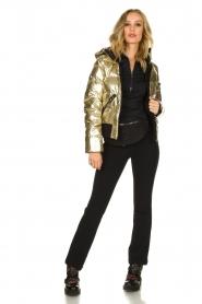 Goldbergh |  Metallic down jacket Aura | gold  | Picture 3