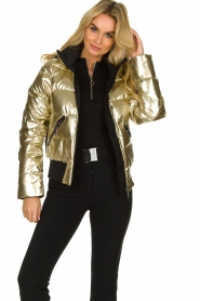 Goldbergh |  Metallic down jacket Aura | gold  | Picture 1