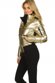 Goldbergh |  Metallic down jacket Aura | gold  | Picture 4