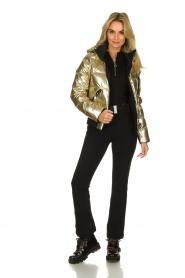 Goldbergh |  Metallic down jacket Aura | gold  | Picture 6