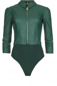 ELISABETTA FRANCHI | Faux leather body Zoella | green  | Picture 1