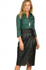 ELISABETTA FRANCHI | Faux leather body Zoella | green  | Picture 2