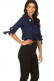 ELISABETTA FRANCHI |  Stretch blouse Frizzante | blue  | Picture 4