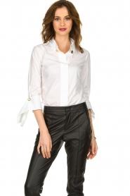 ELISABETTA FRANCHI |  Stretch blouse Frizzante | white  | Picture 2